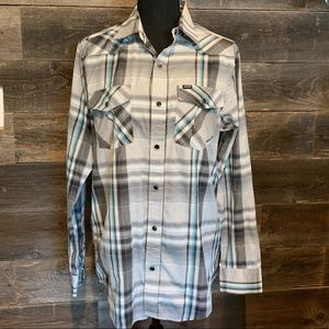 Hurley Men's small long sleeve plaid shirt